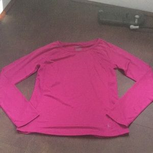 Fuchsia long sleeve quick-dry top